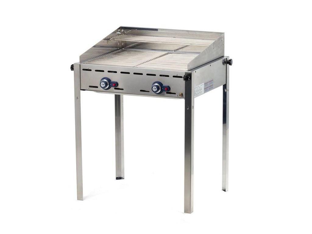Green Fire | Gasbarbecue | 2 Branders | 2 RVS Roosters GN1/1 | BESTE KOOP